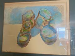 Andy Warhol WARHOL STYLE POP ART WORK BOOTS LITHOGRAPH - 1845661