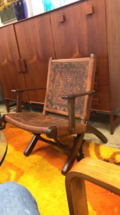 Angel Pazmino Ecuadorian embossed leather chair - 1644409