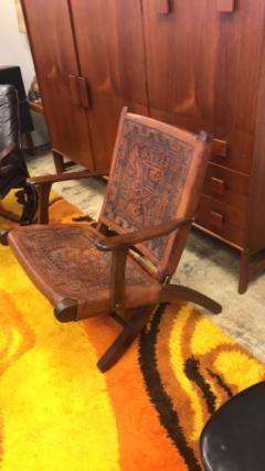 Angel Pazmino Ecuadorian embossed leather chair - 1644410