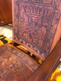 Angel Pazmino Ecuadorian embossed leather chair - 1644411