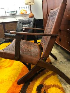 Angel Pazmino Ecuadorian embossed leather chair - 1644412