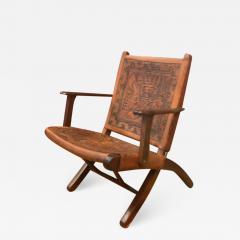 Angel Pazmino Ecuadorian embossed leather chair - 1648141