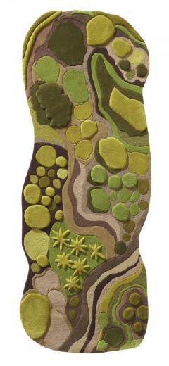 Angela Adams Woodland Forest Moss Rug - 947550