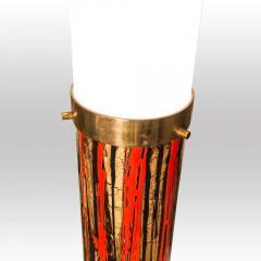 Angelo Brotto 1950S FLOOR LAMP ART ENAMEL ON METAL ACRYLIC SHADE BY ANGELO BROTTO - 1789759