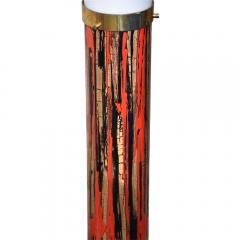 Angelo Brotto 1950S FLOOR LAMP ART ENAMEL ON METAL ACRYLIC SHADE BY ANGELO BROTTO - 1789766