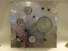 Angelo Brotto Lit Wall Piece by Angelo Brotto in Aluminum and Blown Glass Circa 1970 - 210021