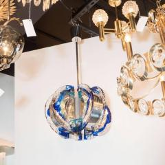 Angelo Brotto Mid Century Modernist Murano Glass Chandelier by Angelo Brotto for Esperia - 1460091