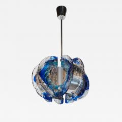 Angelo Brotto Mid Century Modernist Murano Glass Chandelier by Angelo Brotto for Esperia - 1462891