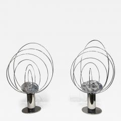 Angelo Brotto Pair of Angelo Brotto Sculptural Table Lamps - 1645273