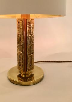 Angelo Brotto Pair of Bronze Margot Table Lamps by Angelo Brotto for Esperia Italy - 1401524