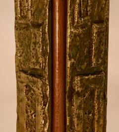 Angelo Brotto Pair of Bronze Margot Table Lamps by Angelo Brotto for Esperia Italy - 1401526