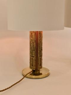 Angelo Brotto Pair of Bronze Margot Table Lamps by Angelo Brotto for Esperia Italy - 1401534