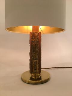 Angelo Brotto Pair of Bronze Margot Table Lamps by Angelo Brotto for Esperia Italy - 1401535