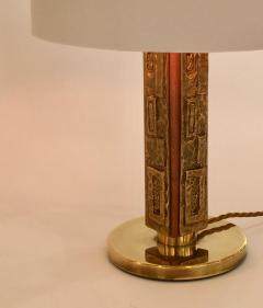 Angelo Brotto Pair of Bronze Margot Table Lamps by Angelo Brotto for Esperia Italy - 1401536