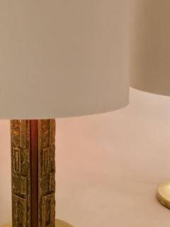 Angelo Brotto Pair of Bronze Margot Table Lamps by Angelo Brotto for Esperia Italy - 1401537
