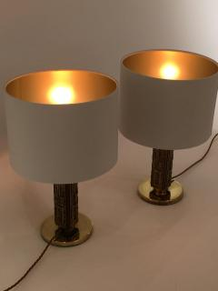 Angelo Brotto Pair of Bronze Margot Table Lamps by Angelo Brotto for Esperia Italy - 1401539