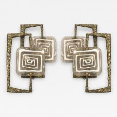 Angelo Brotto Pair of Bronze and Murano glass Sconces by Angelo Brotto - 1232148