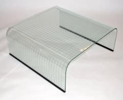 Angelo Cortesi Coffee Table in Curved Plate Glass by Fiam - 673618