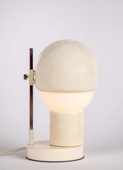 Angelo Lelii Lelli 1960s White Glass and Metal Table Lamp Attributed to Angelo Lelli for Arredoluce - 1672857