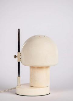 Angelo Lelii Lelli 1960s White Glass and Metal Table Lamp Attributed to Angelo Lelli for Arredoluce - 1672858