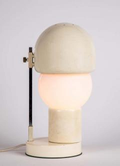 Angelo Lelii Lelli 1960s White Glass and Metal Table Lamp Attributed to Angelo Lelli for Arredoluce - 1672859