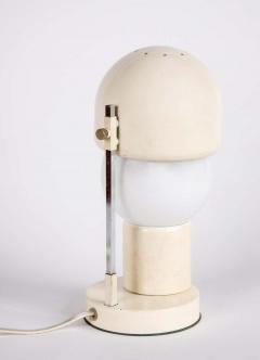 Angelo Lelii Lelli 1960s White Glass and Metal Table Lamp Attributed to Angelo Lelli for Arredoluce - 1672862