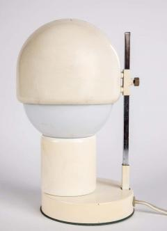 Angelo Lelii Lelli 1960s White Glass and Metal Table Lamp Attributed to Angelo Lelli for Arredoluce - 1672863