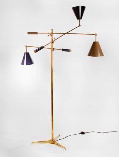 Angelo Lelii Lelli Arredoluce Triennale Brass Floor Lamp Designed by Angelo Lelii Model 12128 - 1546371