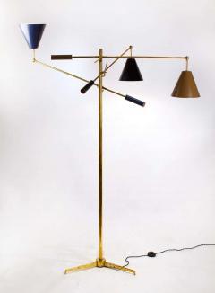 Angelo Lelii Lelli Arredoluce Triennale Brass Floor Lamp Designed by Angelo Lelii Model 12128 - 1546372