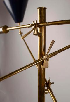 Angelo Lelii Lelli Arredoluce Triennale Brass Floor Lamp Designed by Angelo Lelii Model 12128 - 1546374