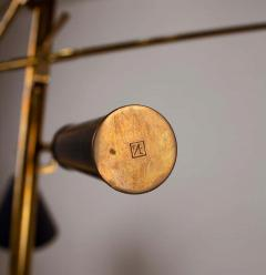 Angelo Lelii Lelli Arredoluce Triennale Brass Floor Lamp Designed by Angelo Lelii Model 12128 - 1546381