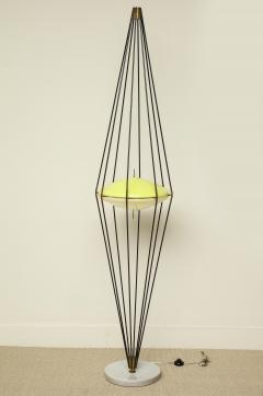 Angelo Lelii Lelli Rare tall standing lamp Siluro by Angelo Lelii for Arredoluce - 1510758