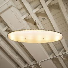 Angelo Lelii Lelli Rare yellow white oval suspension light fixture by Angelo Lelii for Arredoluce - 1405535