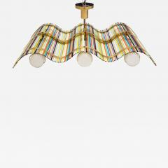 Angelo Lelli Angelo Lelli Wave Shaped Pendant Fixture for Arredoluce - 587594