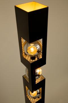 Angelo Lelli Lelii Angelo Lelli For Arredoluce Rare Triple Eyeball Floor Lamp With Torchiere