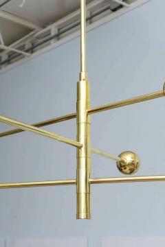 Angelo Lelli Italian Modern Brass and Enameled Three Arm Chandelier - 527151