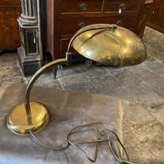 Angelo Lelli Lelii 1950s Angelo Lelii Style Mid Century Modern Solid Brass Italian Table Lamp - 2107916