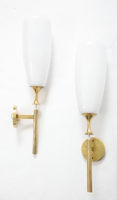 Angelo Lelli Lelii Angelo Lelii For Arredoluce Large Brass Sconces - 1730880