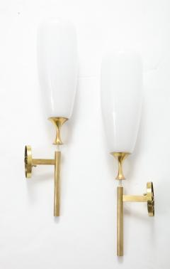 Angelo Lelli Lelii Angelo Lelii For Arredoluce Large Brass Sconces - 1730884