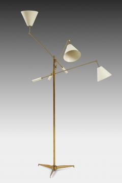 Angelo Lelli Lelii Original Rare 1950s Triennale Floor Lamp Model 12128 - 1730732