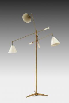Angelo Lelli Lelii Original Rare 1950s Triennale Floor Lamp Model 12128 - 1730733