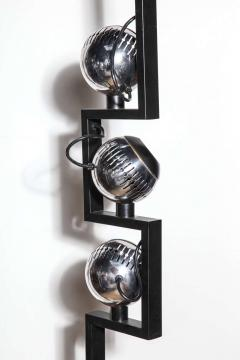 Angelo Lelli Lelii Pair of Angelo Lelli for Arredoluce Floor Lamps with Adjustable Chrome Shades - 1685746