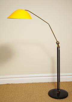 Angelo Lelli Lelii RARE STANDING LAMP WITH GOLDEN TOLE SHADE BY ANGELO LELII FOR ARREDOLUCE - 1832527