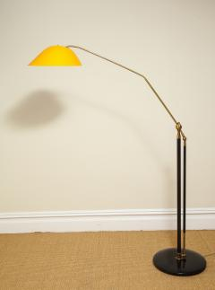 Angelo Lelli Lelii RARE STANDING LAMP WITH GOLDEN TOLE SHADE BY ANGELO LELII FOR ARREDOLUCE - 1832528