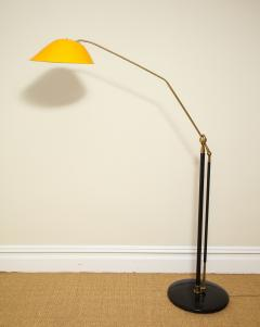 Angelo Lelli Lelii RARE STANDING LAMP WITH GOLDEN TOLE SHADE BY ANGELO LELII FOR ARREDOLUCE - 1832529