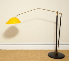 Angelo Lelli Lelii RARE STANDING LAMP WITH GOLDEN TOLE SHADE BY ANGELO LELII FOR ARREDOLUCE - 1832530