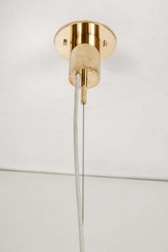 Angelo Lelli Lelii Rare 1950s Angelo Lelli Glass and Brass Suspension Lamp for Arredoluce - 1770611