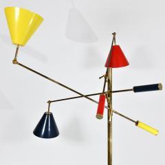 Angelo Lelli Lelii Triennale Floor lamp in brass - 1789813