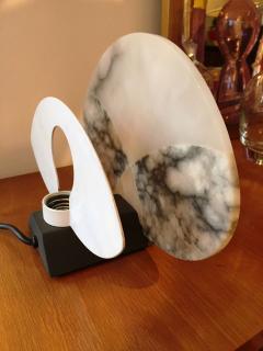 Angelo Mangiarotti 1980s Alabaster Table Lamp by A Mangiarotti - 252482