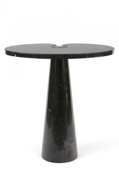 Angelo Mangiarotti Angelo Mangiarotti Black Marquina Marble Eros Side Table for Skipper Italy - 1935613